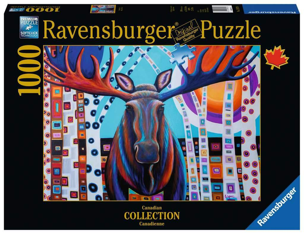 Winter Moose Puzzle 1000pc