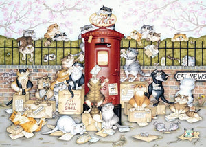 Crazy Cats Lost in the Post 1000pc