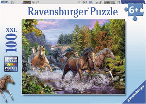 Rushing River Horses Puzzle 100pc