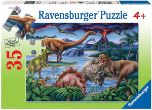 Dinosaur Playground Puzzle 35pc