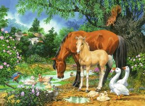 Ponies at the Pond Puzzle 100pc