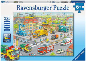 Vehicles in the City Puzzle 100pc