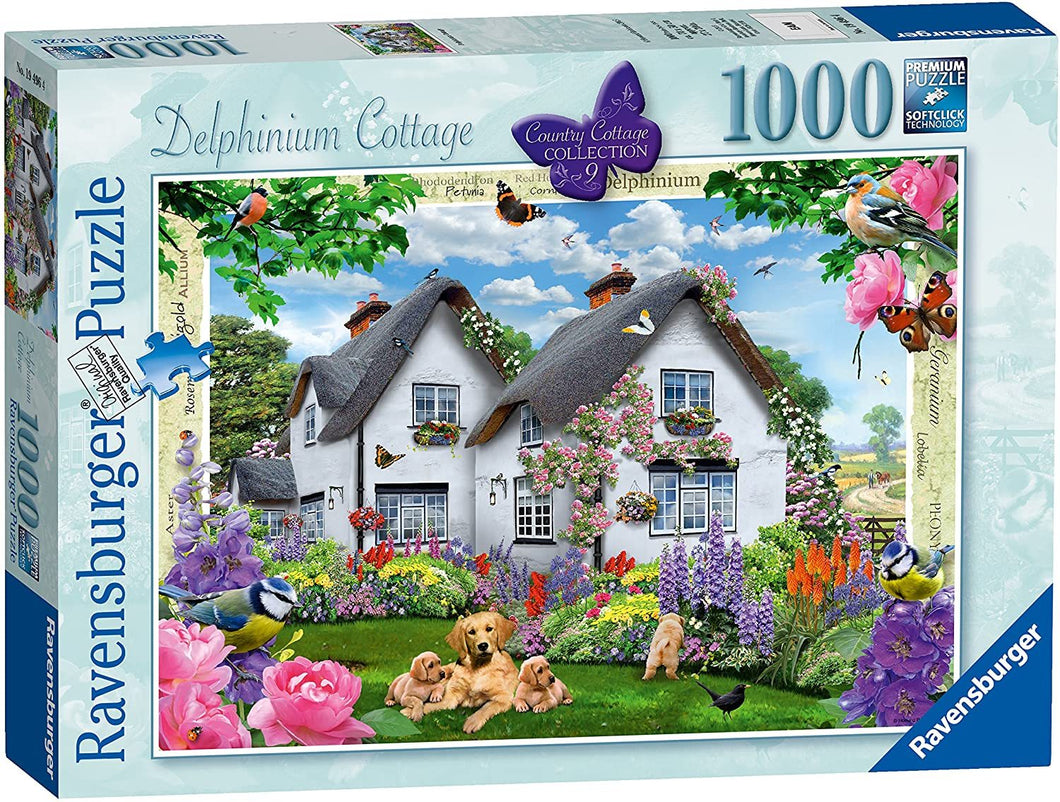 Delphinium Country Cottage 1000pc