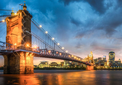 Cincinnati Bridge at Dusk 1000pc