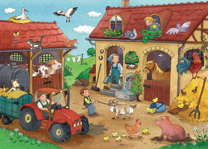 Working on the Farm Puzzle 2x12pc