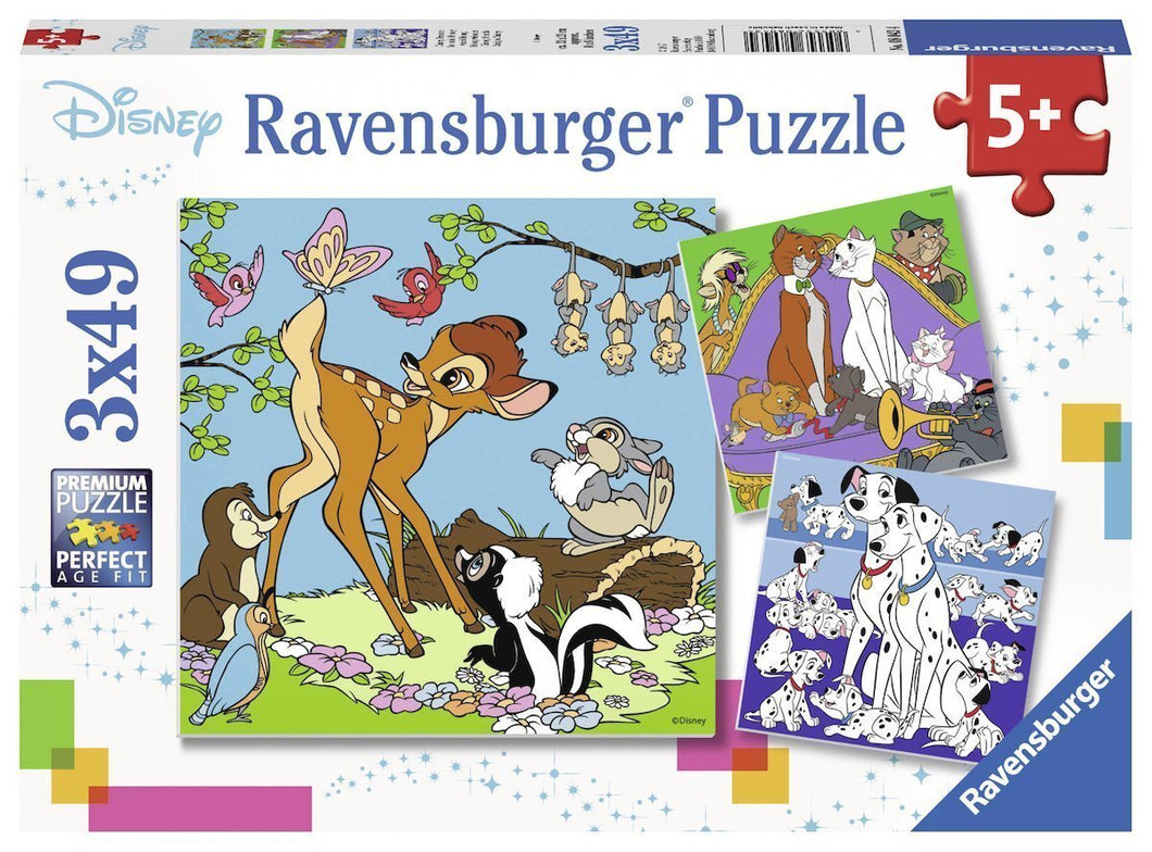 Disney Friends Puzzle 3x49pc