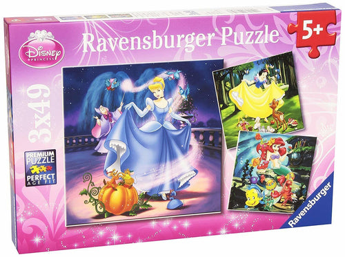 Disney Snow White Cinderella Ariel 3x49pc