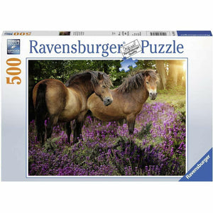 Ponies in the Flowers Puzzle 500pc