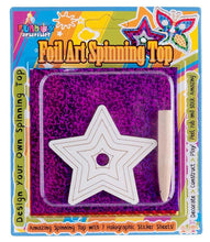 Amazing Star Foil Art Spinning Top