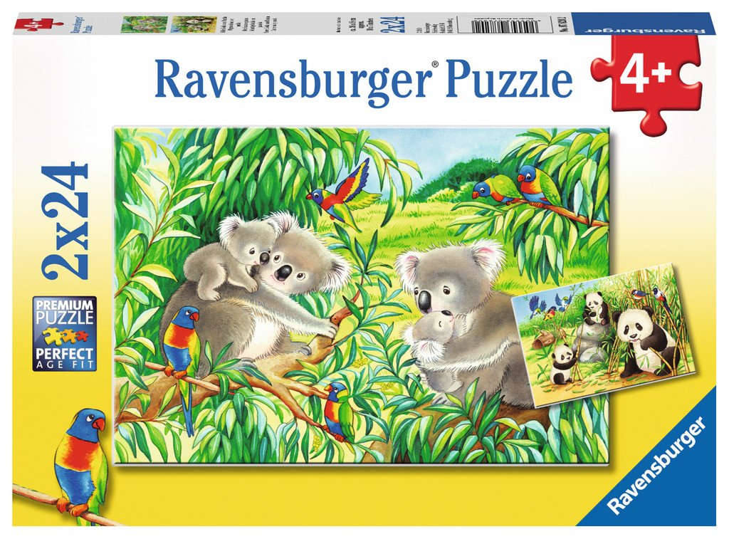 Sweet Koalas and Pandas Puzzle 2x24pc