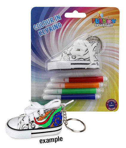 Super Cute Shoe Colour-In Keyring