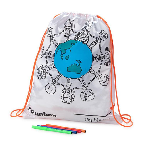 Inspirational We Are Friends Multi-Purpose Drawstring Bag