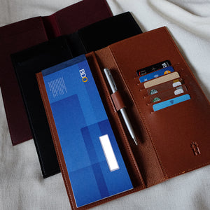 Checkbook Holder in Wine
