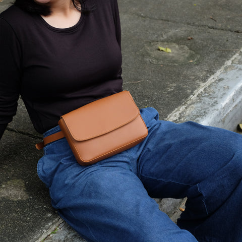Astraea Convertible Sling in Tan