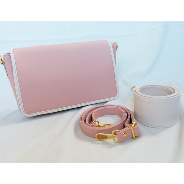 Charlotte Block Sling in Blush Pink