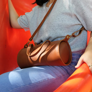Selene Barrel Sling in Tan