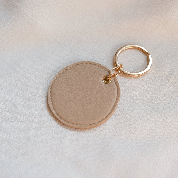 Circular Tag in Oatmeal
