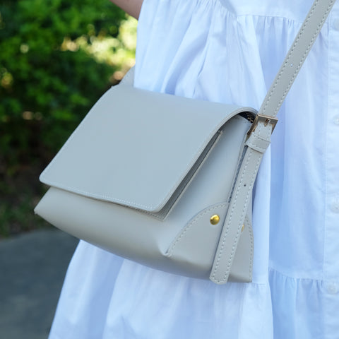 Dominique Origami Sling in Creme