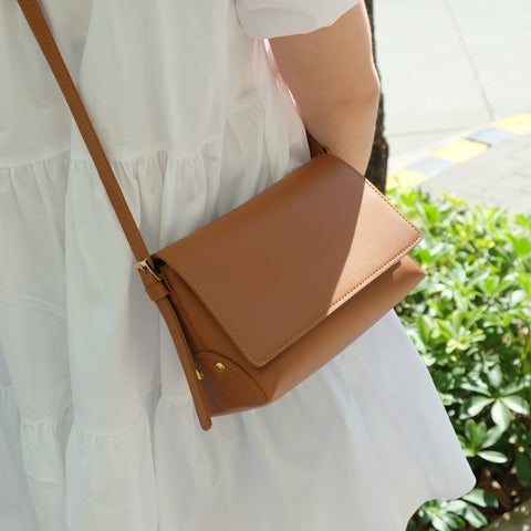 Dominique Origami Sling in Tan