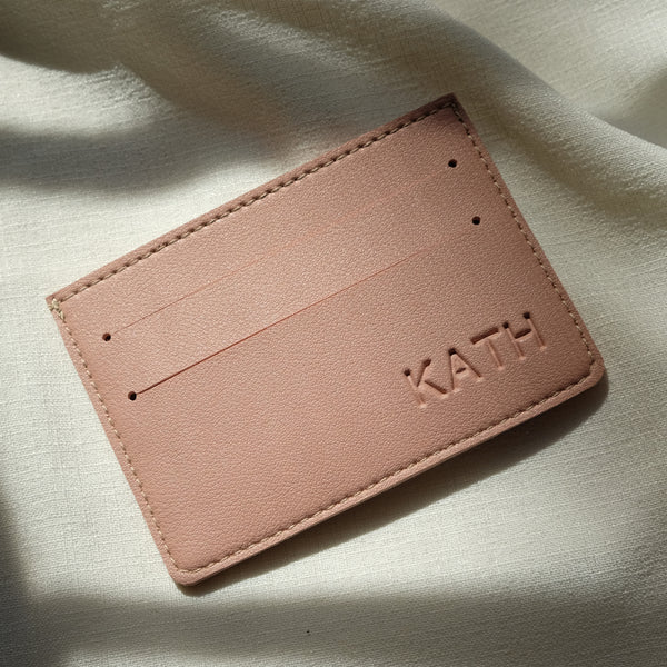 Card Holder in Lilac Gray