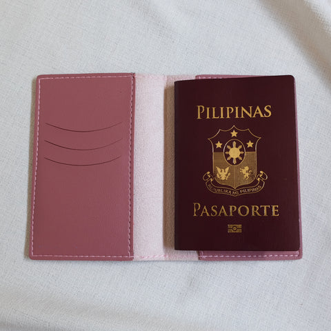 Passport Holder in Old Rose