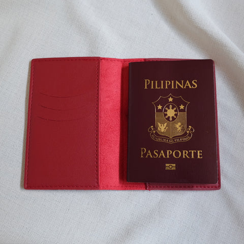Passport Holder in Red
