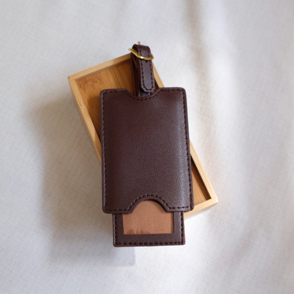 Premium Luggage Tag in Brown