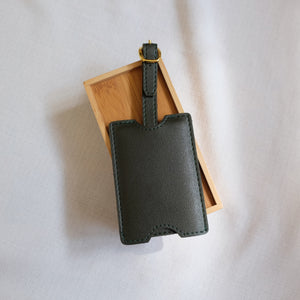 Premium Luggage Tag in Moss Green