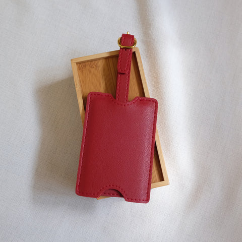 Premium Luggage Tag in Red
