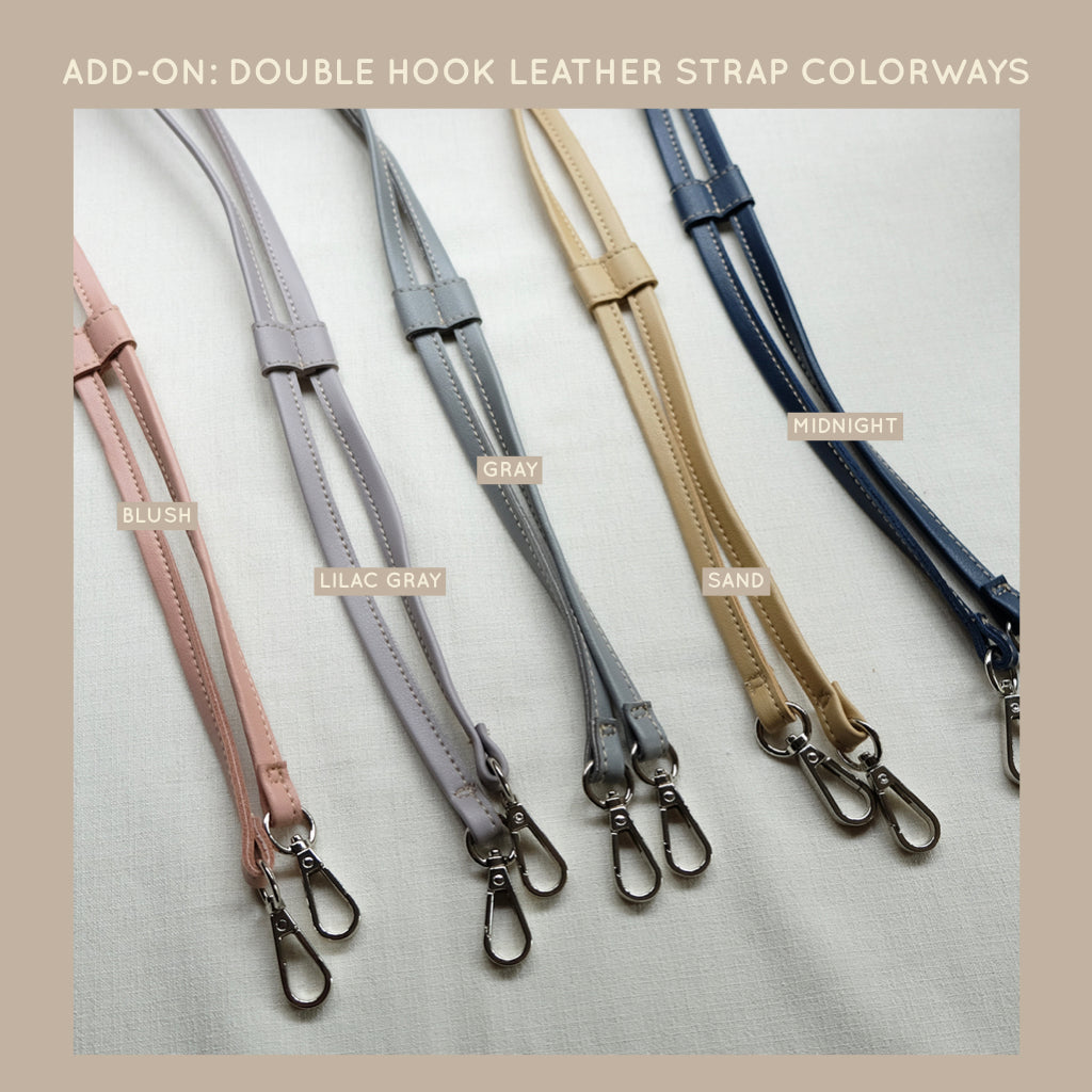 Double Hook Leather Strap in Blush