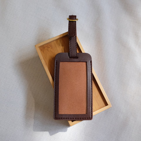 Standard Luggage Tag in Brown