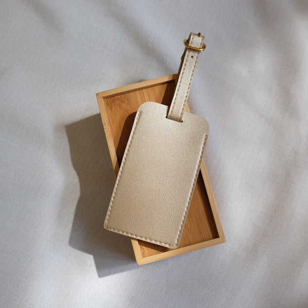 Standard Luggage Tag in Gold