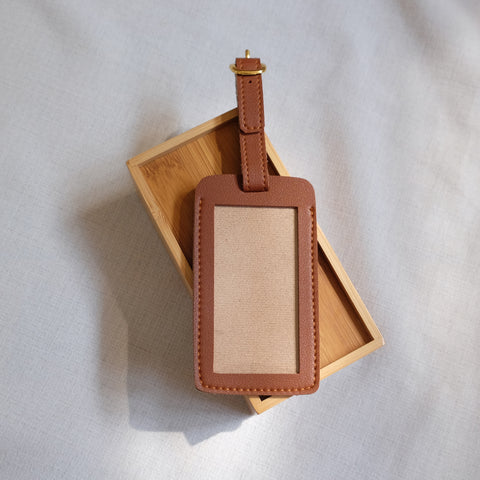 Standard Luggage Tag in Tan