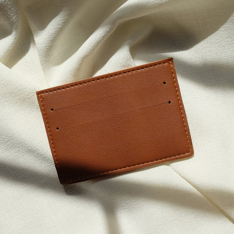 Card Holder in Tan