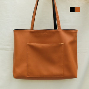 Luna Reversible in Tan/Black
