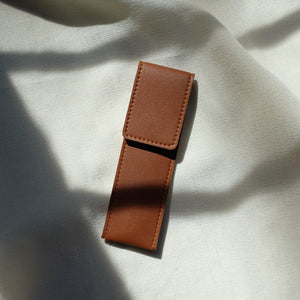Slim Pen Case in Tan