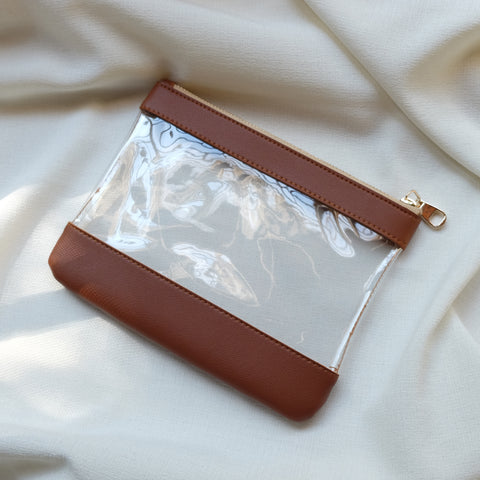 Clarity Pouch in Tan