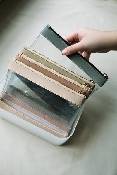 Clarity Pouch in Peach