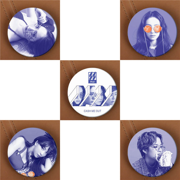 F(X) 4 Walls Button Pin