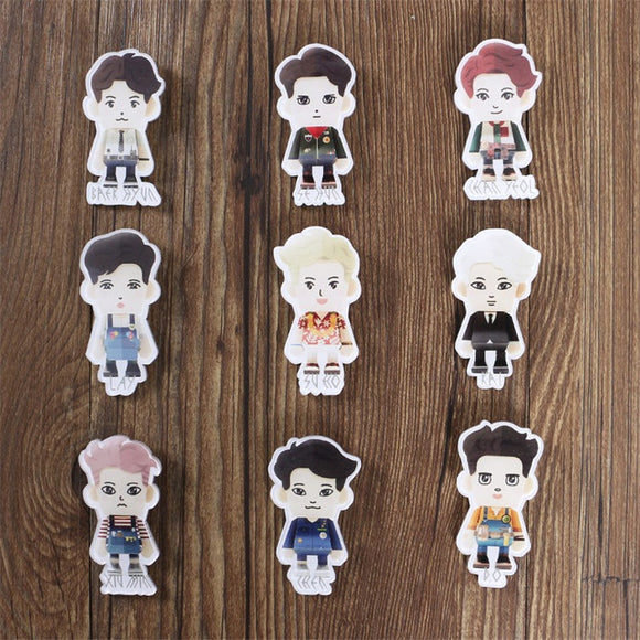 EXO Paper Toy Pin Badge