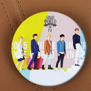 Shinee World Button Pin
