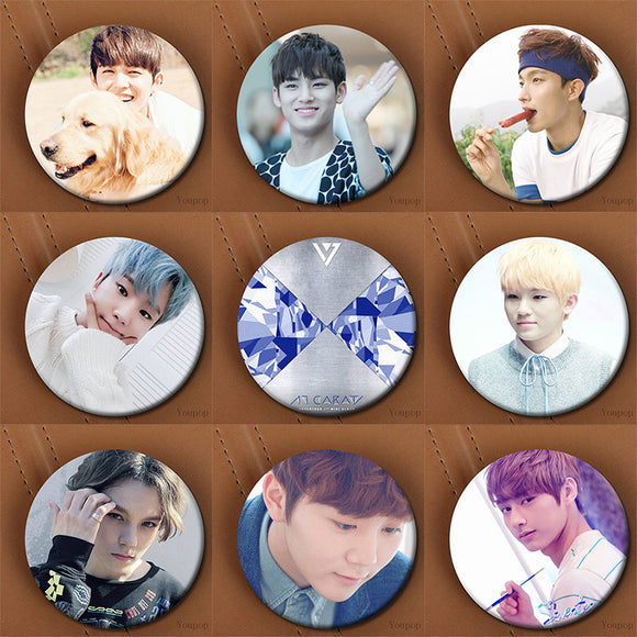 SEVENTEEN Button Pins