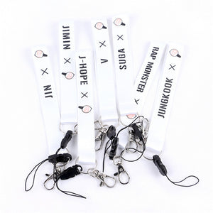 BTS 4th Fourth Anniversary Keychain Lanyard