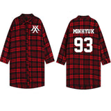 Monsta X Oversize Plaid Shirt