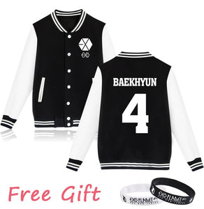 EXO Letterman Knit Jacket