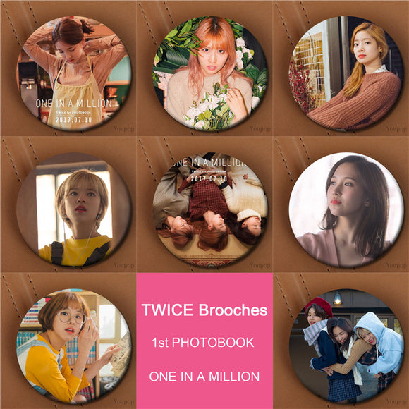 TWICE ONE IN A MILLION Album Button Pins