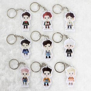 EXO Paper Toy Key Chain