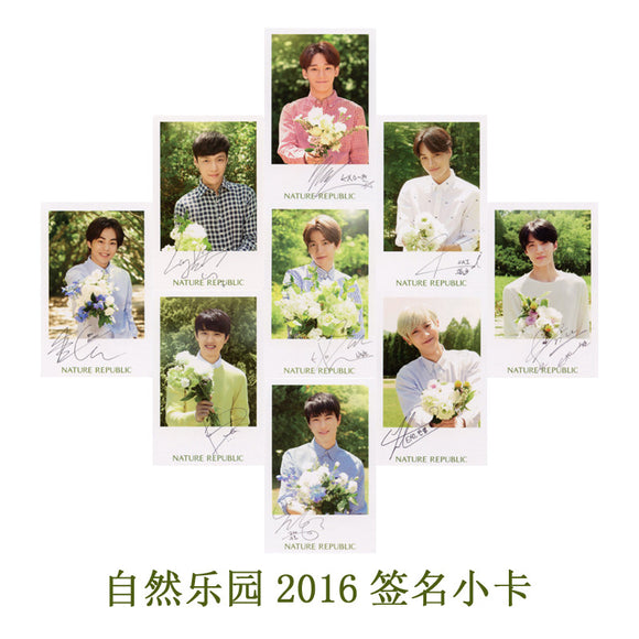 EXO Nature Republic Autograph Photocards