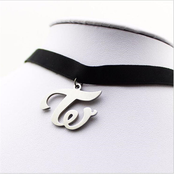 Twice Logo Fashion Choker