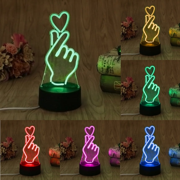 Finger Heart Night Light